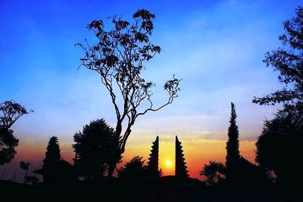 Sunset Di Candi Cetho Gunung Lawu Karang Anyar
